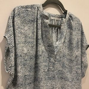 Anthropologie Tops - Violet + Claire blue silky blouse Sz m